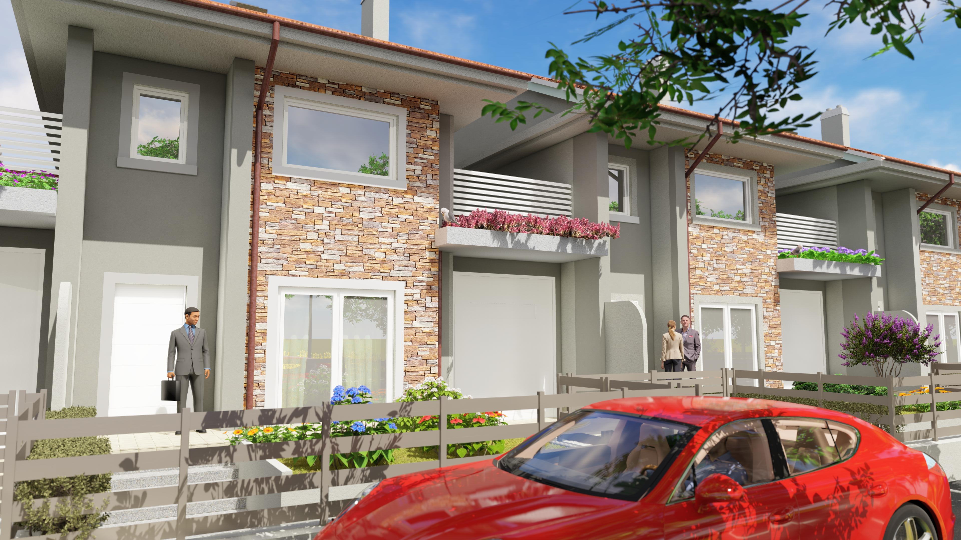 nuova villa in costruzione a pinerolo